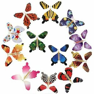 Magic Flying Butterfly Surprise Gift Rubber Band Powered Swallowtail Wind Up Hot
