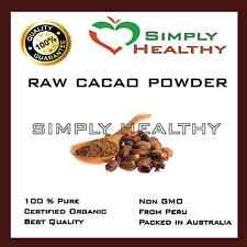 CACAO RAW POWDER 100g CERTIFIED ORGANIC BEST QUALITY SUPER FOOD AVAILABLE GREAT