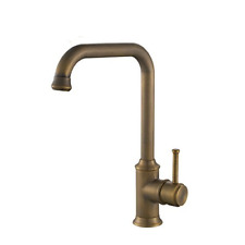 Hiendure® Antique Brass Finished Antique Kitchen Sink Tap with Swivel Spout