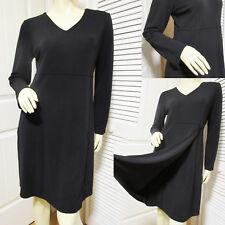 OLD NAVY Womens Little Black V-Neck Sheath A Line Wrap Sweater Dress Long Sleeve