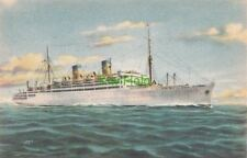 Postcard Ship M/S Italia Home Lines