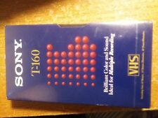 NEW SEALED - SONY T-160ESD  VHS Tape (Blank Tape)