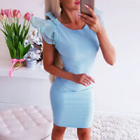 Women Summer Bodycon Bowknot  Pencil Dress Ladies Party Evening Slim Mini Dress