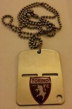 Offerta Logo Torino Calcio su Piastrina in acciaio Orig. E.I. cm 4,5 x 3,5