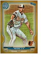 John Means 2020 Topps Gypsy Queen 5x7 Gold #14 /10 Orioles