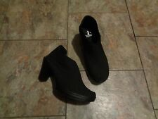 corkys hot black weaved heels shoes size 7