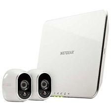 Netgear Arlo Camera System with 2 Arlo Wire-Free Indoor/Outdoor HD Cameras/Ou...