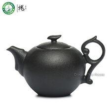 Black Zen Ceramic Chinese Teapot Gongfu Tea Brewing Serving Teaware 180ml 6.08oz