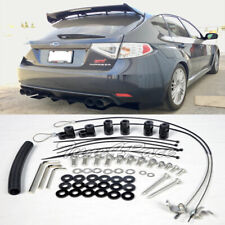 For 11-14 WRX 08-14 Subaru Impreza STI Riser Kit Hatch 3Dr Rear Spoiler Lip Wing