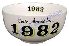 Bol année de naissance 1982 en grès - idée cadeau anniversaire neuf
