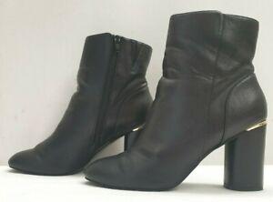 MISS SELFRIDGE ladies womens black golden ankle boots Size 6 EU 39