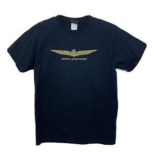 Honda Goldwing Official T-Shirt Short Sleeve Gold Glitter Logo Womens Sz M Black