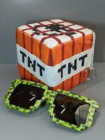 Minecraft Plush TNT Stuffed Toy with Free Sunglasses New