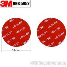 2pcs Φ58mmx1.1m Black Round 3M VHB 5952 Acrylic Foam Double Sided Adhesive Tape