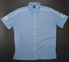 Jantzen Vintage Button Up Size Large Blue Made in USA