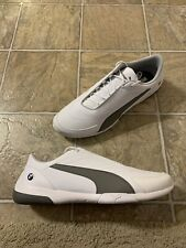 PUMA BMW MMS Kart Cat III Sneakers Men's Size 14 White/ Smoked Pearl 306218-06