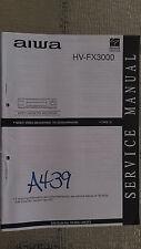 Aiwa hv-fx3000 service manual original repair book vcr