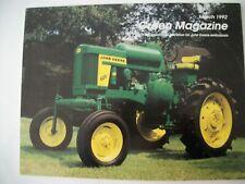 John Deere 620 High Crop Tractor Green Magazine March 1992