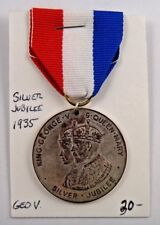 1935 King George and Queen Mary Silver Jubilee Birmingham City Pin Medal Ribbon