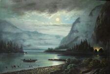 Mondschein Gemälde , zwei kleine Reparaturstellen