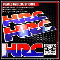 2X 3D GEL DECAL EMBLEM HRC LOGO FUEL TANK/FENDER RACING STICKER FOR HONDA CBR CB