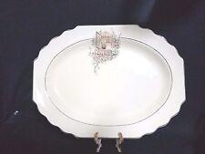"WS GEORGE  BREAKFAST NOOK ( Canarytone LIDO ) - Oval Serving Platter 15 1/2"""