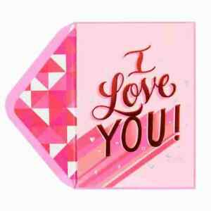 Papyrus Valentine Day Card- Romantic I Love You're big beautiful part of My Life