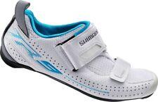 NIB - Shimano SH-TR9W Women's Triathlon Carbon Road Bike Shoes White Size 41.0