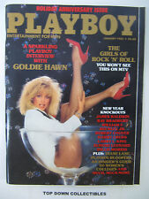 Playboy Magazine   January 1985  Joan Bennett POTM/Dona Speir/Tricia Lange