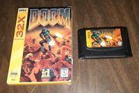 Doom Sega genesis 32X In Box With insert VIDEO GAME CARTRIDGE