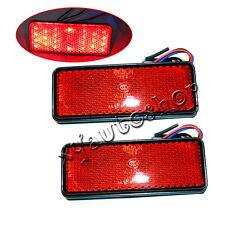 2 LED Reflector Tail Brake Stop Marker Light Truck Trailer RV ATV Motorcycle RED