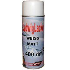 Weiß matt  WOW 1 Spraydose  Autolack Lackspray weiß  400ml PORTOFREI