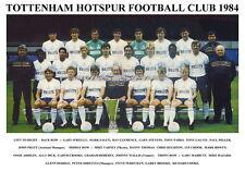 TOTTENHAM HOTSPUR F.C. TEAM PRINT 1984 ( ARDILES / HUGHTON / HODDLE)