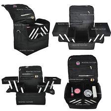 BLACK MAKEUP CASE BOX NAIL TECH BEAUTY EXTENDABLE BAG #340