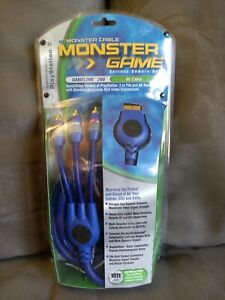 MONSTER CABLE GAMELINK 200 S-VIDEO A/V CABLE FOR PLAYSTATION 2 PS2 10FT NEW
