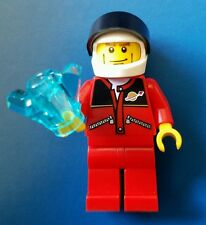 Lego City Minifigure Astronaut red jacket zipper torso lot  moon rock space Logo