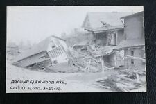 RPPC B/W March 27,1913 Around Glenwood Ave Columbus OH Flood Postcard VTG