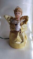 "5.5"" Angel Light Tree Topper Gold Metallic Ornament Ceramic"