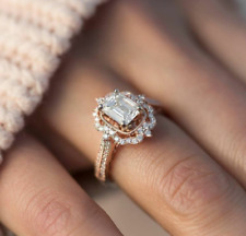 Ring In Rose Gold Polish Ultimate 925 Sterling Silver Engagement Cz