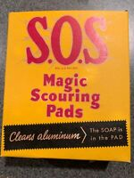 Vintage 1950 New Full Unopened Box S.O.S. Magic Scouring Pads Steel Wool SOS NOS