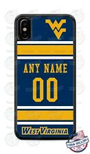 WVU FOOTBALL JERSEY PHONE CASE COVER WITH NAME &# FOR iPHONE SAMSUNG LG GOOGLE