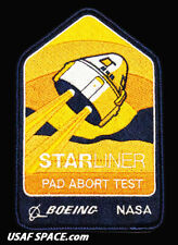 """Authentic BOEING - CST-100 STARLINER - PAD ABORT TEST - NASA  5"""" SPACE PATCH"""