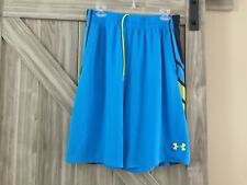 MENS UNDER ARMOUR LARGE BLUE  SHORTS LOOSE BASKETBALL  WORKOUT RUNNING