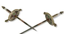 """Vintage Pair Toledo Fencing Swords w/ Mother Of Pearl Handles Made In Spain 40"""""""