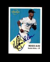 Moises Alou Hand Signed 1998 Fleer Tradition Vintage 63 Houston Astros Autograph