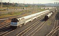 AMTRAK Railroad Train Yards Locomotive 372 Original Photo Slide