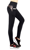 Womens Capri Leggings with Pockets Yoga Pants Sports Gym exercise Workout Athlet