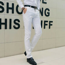 Good Mens Casual dress suit Pants Business Formal court office Slim Fit Trouser