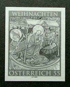 [SJ] Austria Christmas 2010 Mary & Jesus Religious (imperf black print stamp MNH