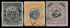 VENEZUELA 1900 - 1912 Over 100 Years Old Official Stamps - Coat of Arms